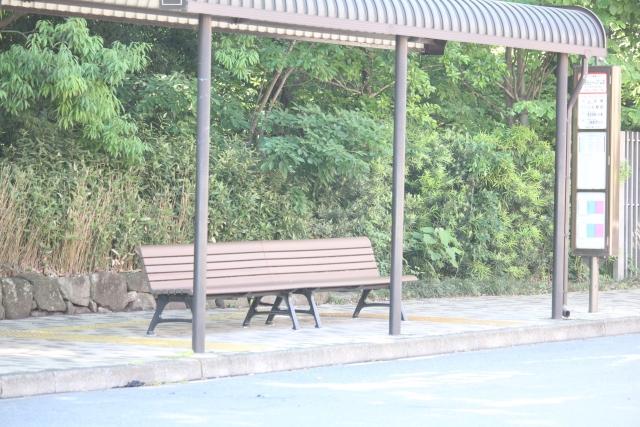 バス停の写真