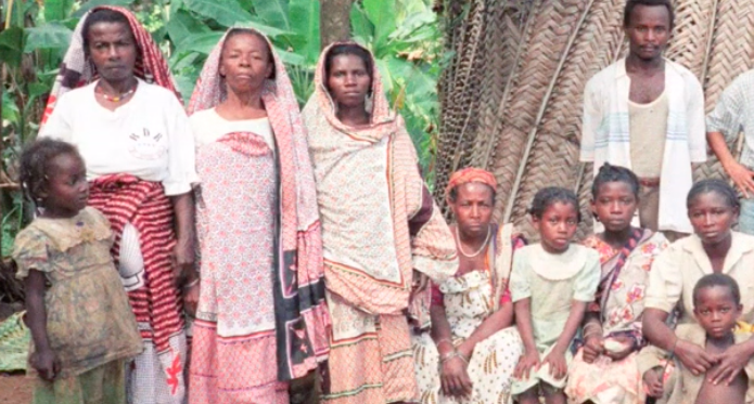 アフリカの家族写真